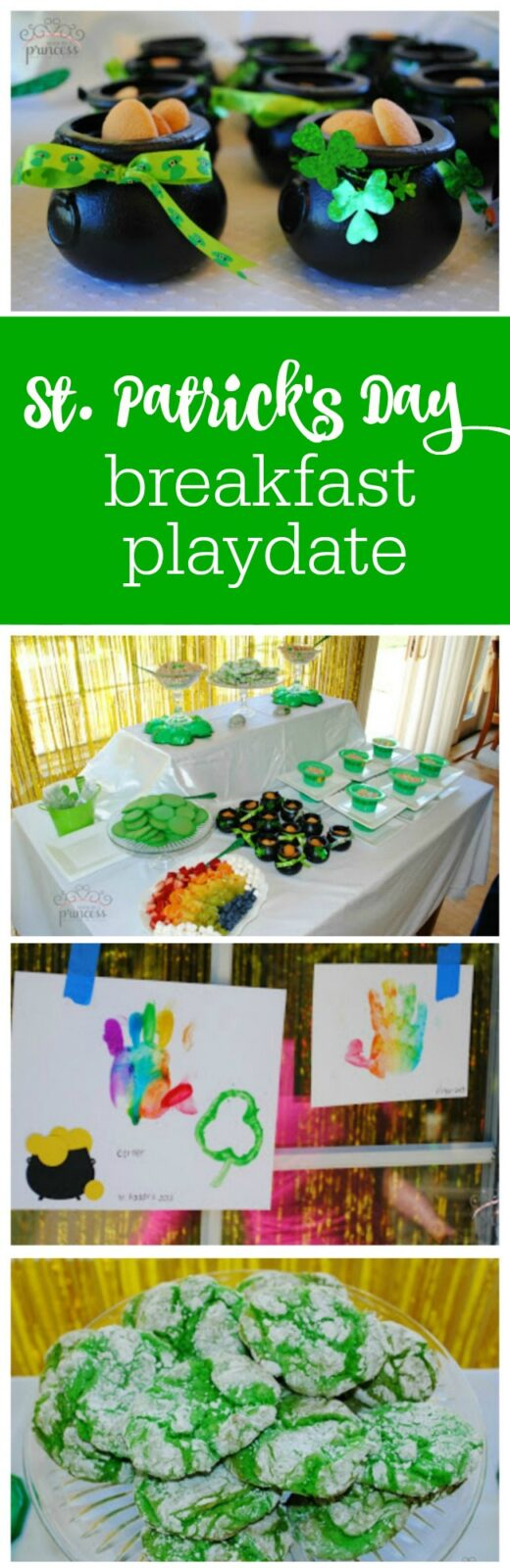 St. Patrick's Day breakfast and playdate by Made by a Princess featured on The Party Teacher
