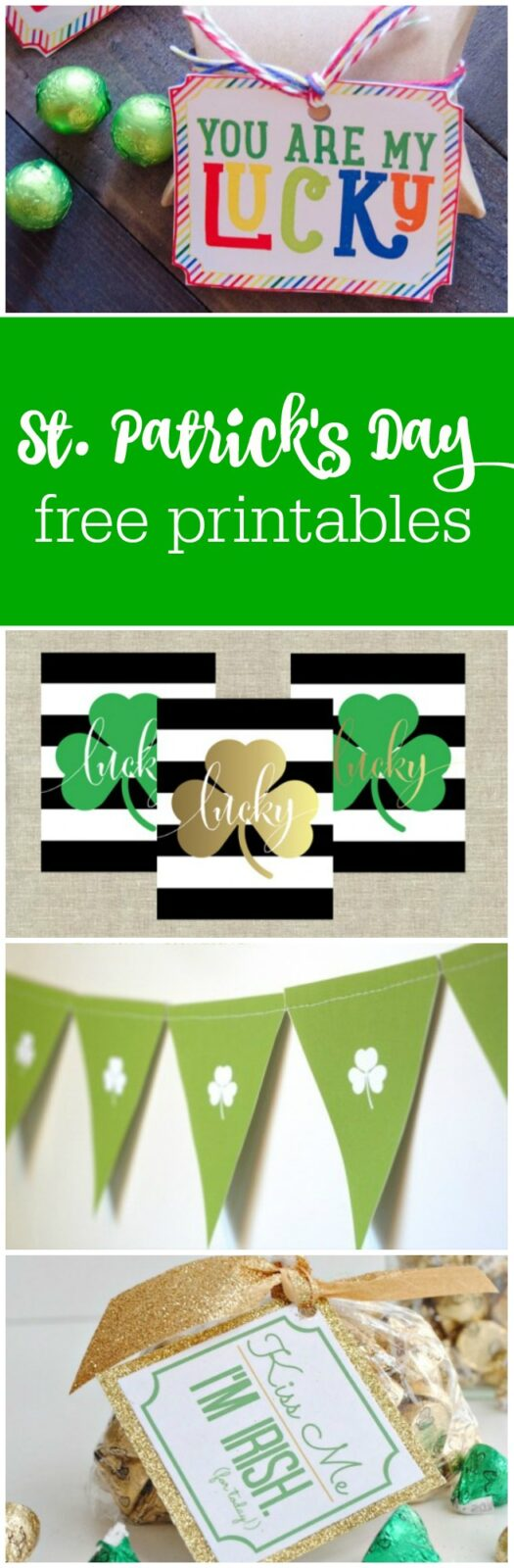 12 St. Patrick's Day free printables curated by The Party Teacher