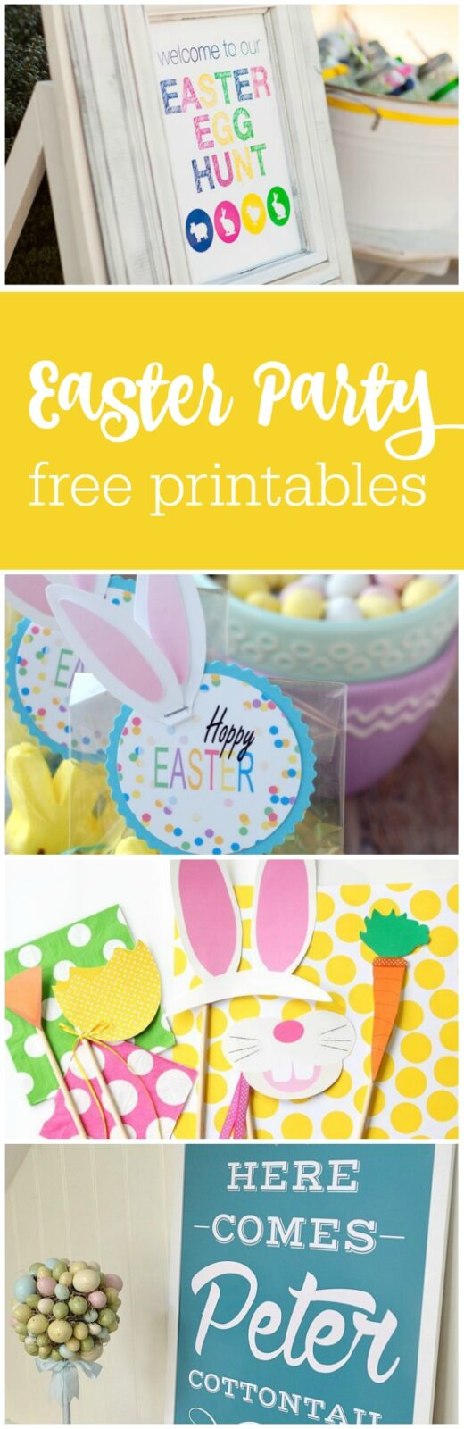 12 free Easter party printables curated by The Party Teacher