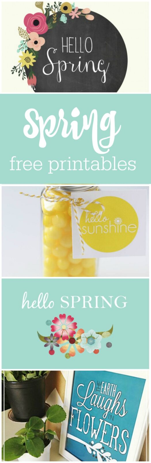 24 free printables for spring curated by The Party Teacher