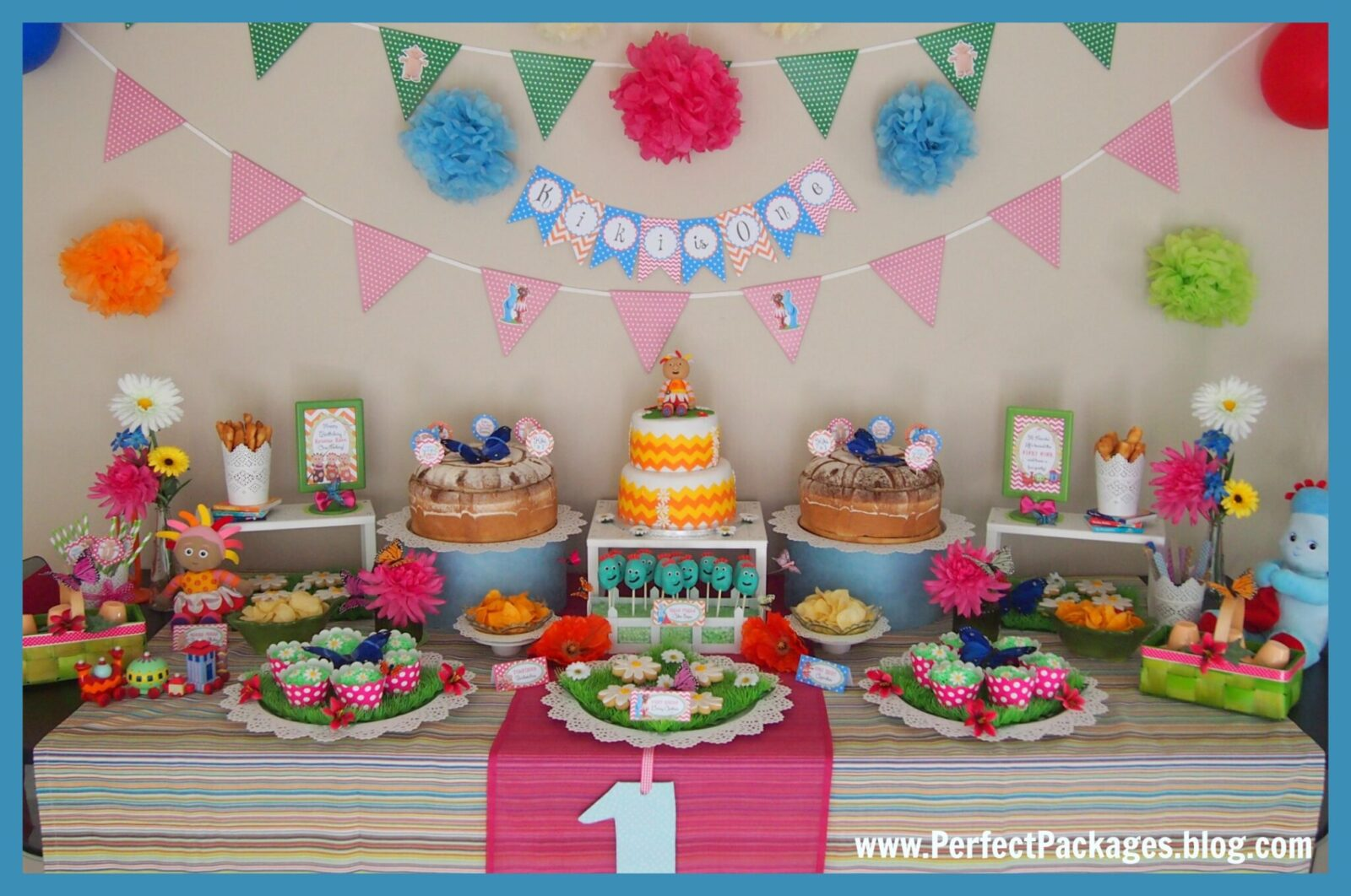 1 Birthday Decoration Ideas Of Guest Party In The Night Garden First Birthday Party