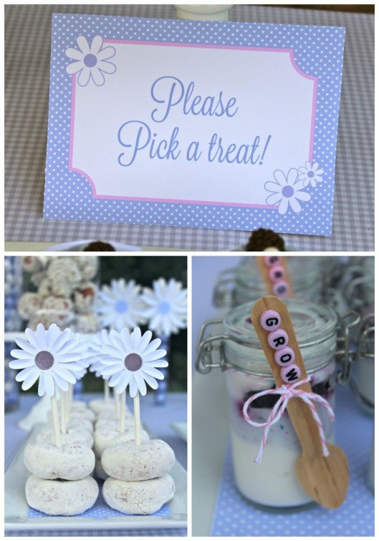 Daisys & Donuts Dessert Table-2