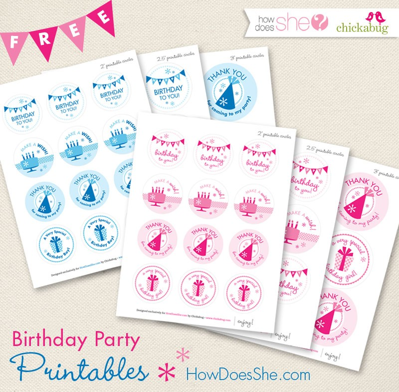 Freebie Friday: 15 Free Birthday Party Printables