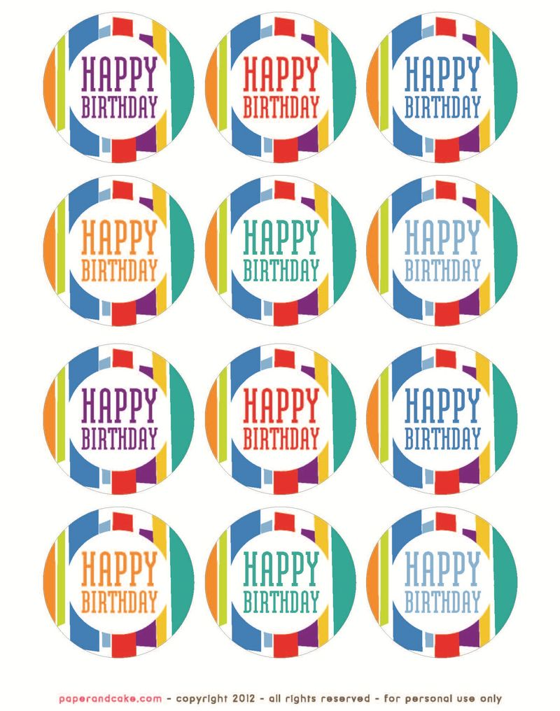 This is a photo of Gratifying Free Printable Birthday Tag