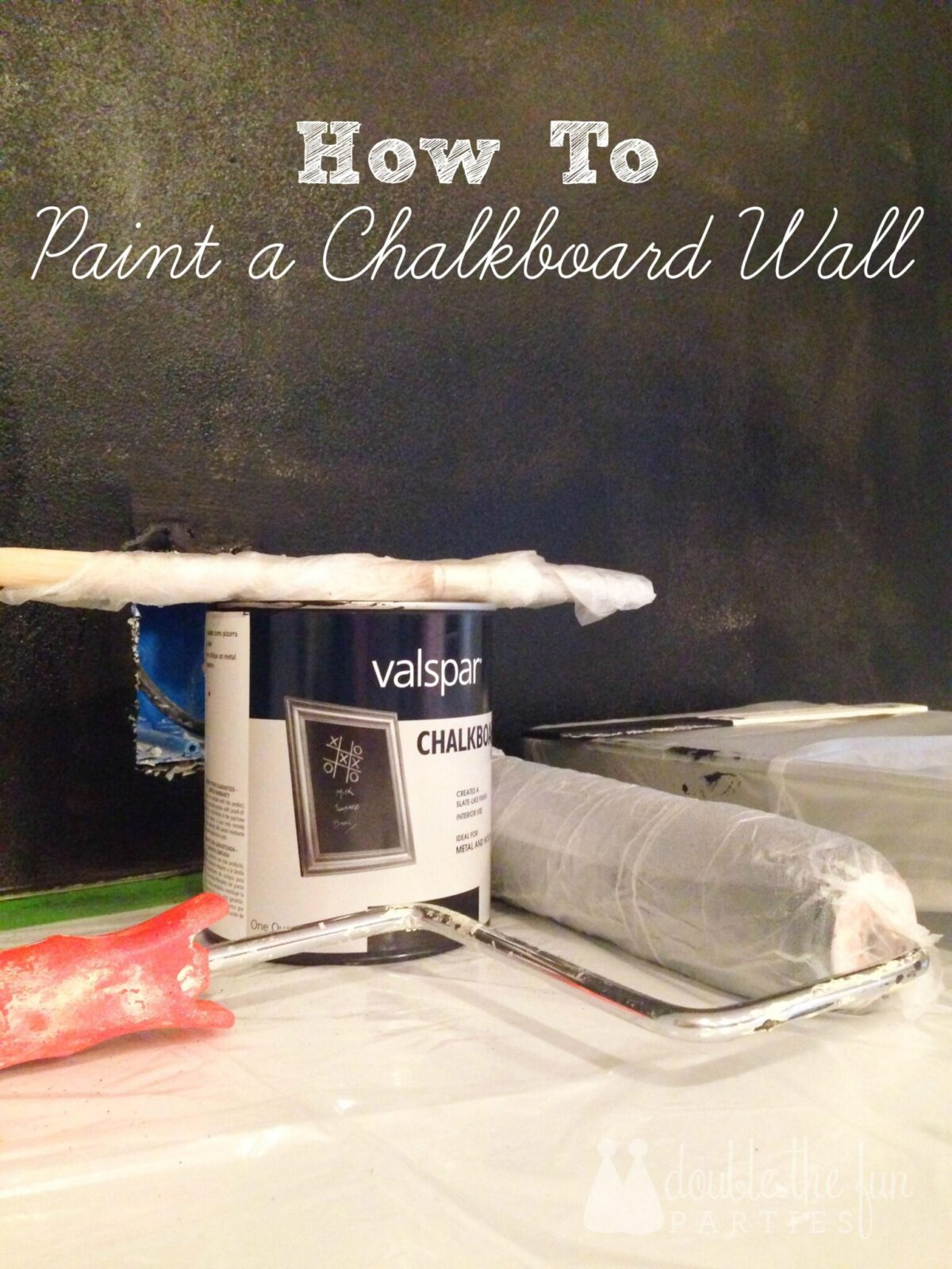 Tutorial how to paint a chalkboard wall for How to paint a wall with chalk paint