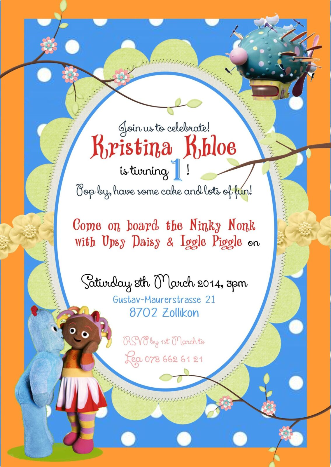 In The Night Garden Birthday Party Invitations Container – In the Night Garden Birthday Invitations