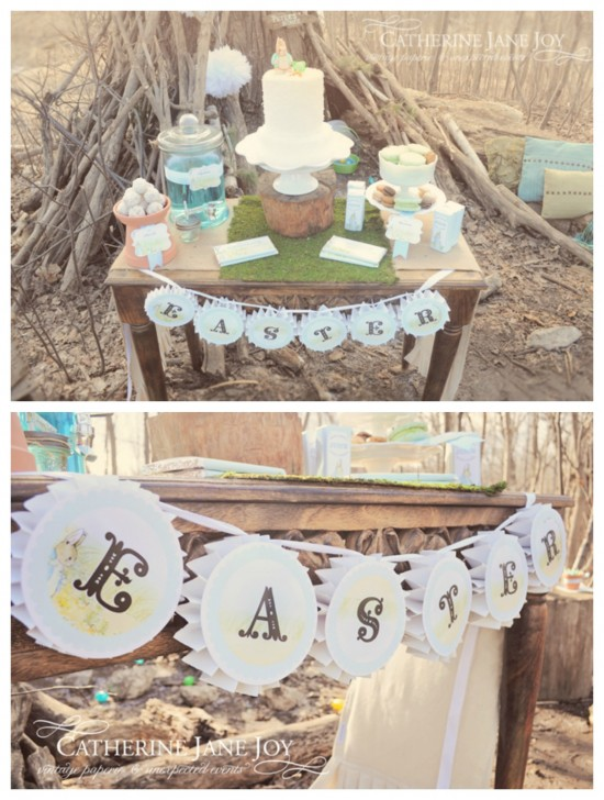 Peter Rabbit Dessert Table Easter Banner by Catherine Jane Joy C