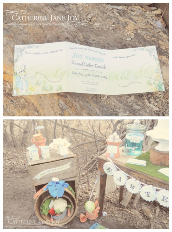 Peter Rabbit Invitation by Catherine Jane Joy C