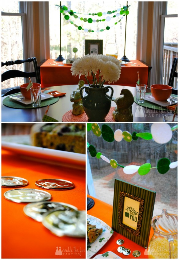 St. Patrick's Day Breakfast Buffet Details by Double the Fun Parties