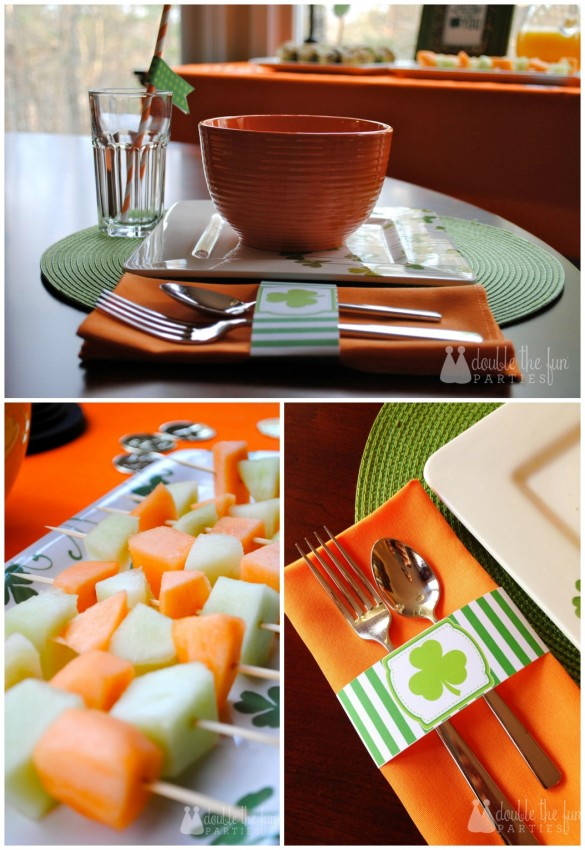 St. Patrick's Day Breakfast Place Setting