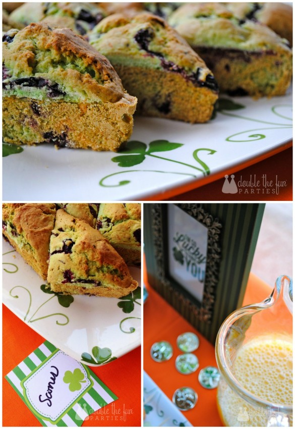 St. Patrick's Day Breakfast Scones by Double the Fun Parties