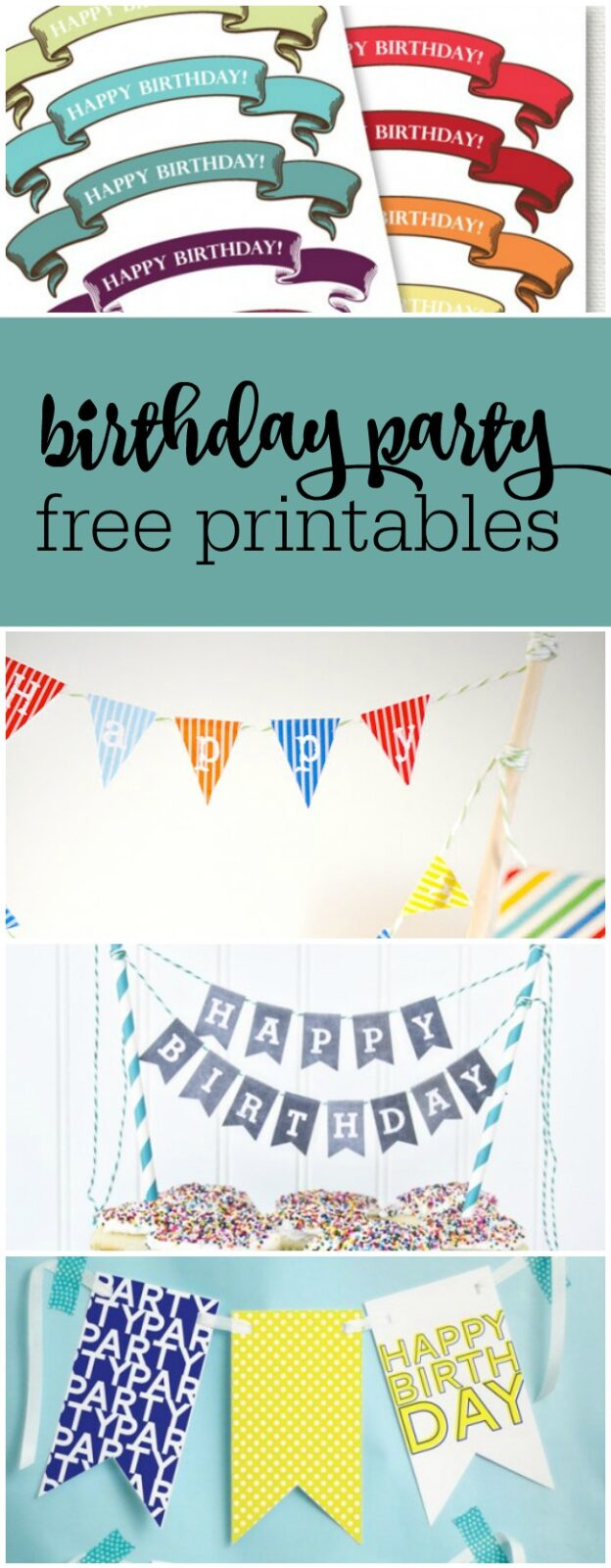 birthday party free printables curated by The Party Teacher