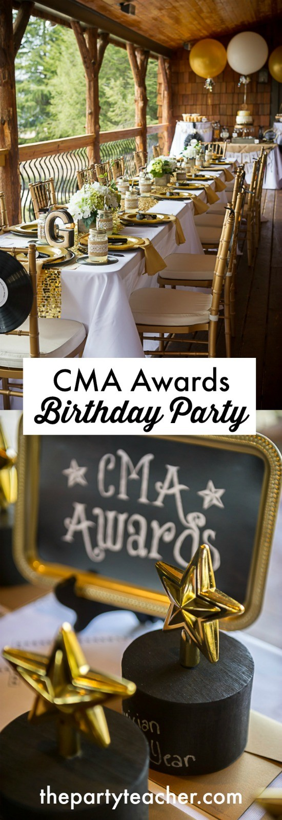 CMA Awards Birthday Party Ideas by The Party Teacher