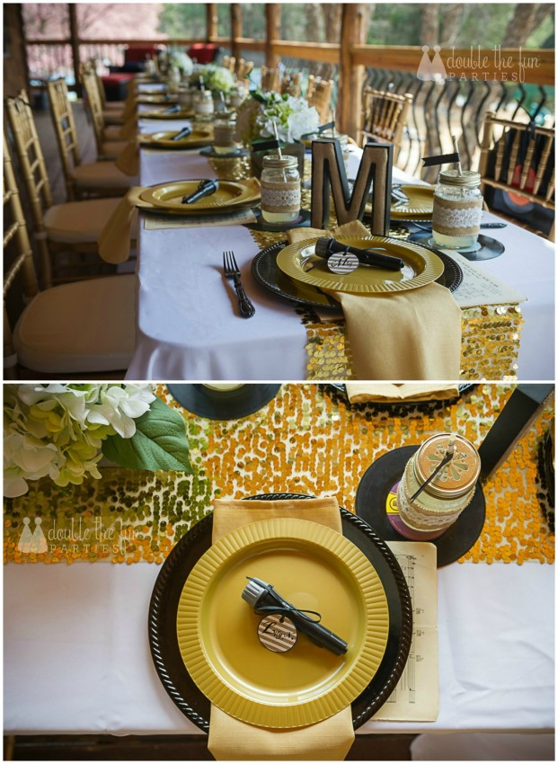 CMA country glam place setting by Double the Fun Parties wm