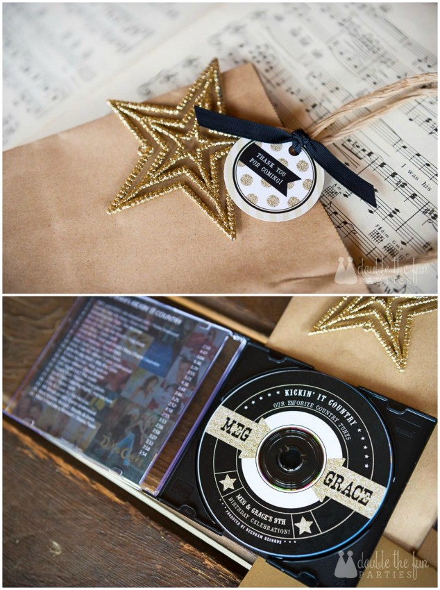 Country Music Awards Party Favor by Double the Fun Parties