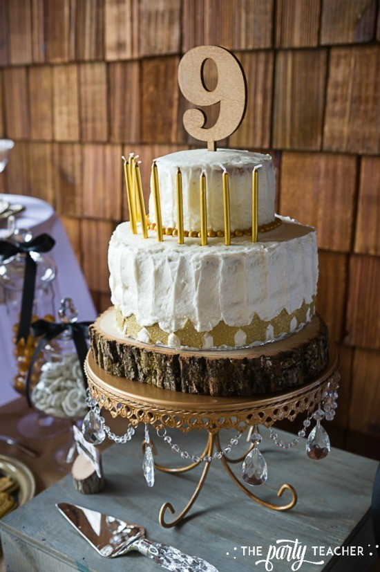 Country Music Awards Party by The Party Teacher - birthday cake with gold stars