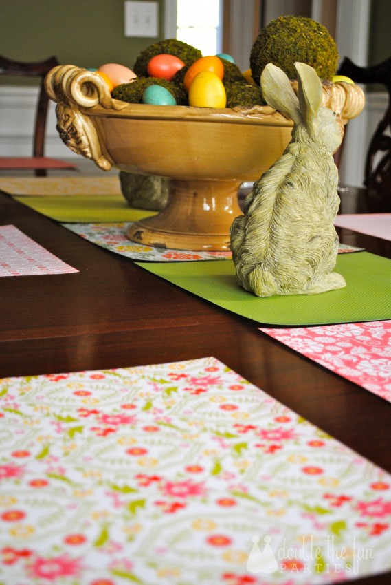 Easter Table in 15 minutes for $1.59 0162