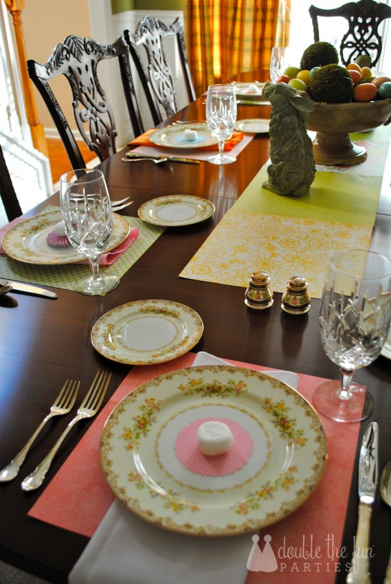 Easter Table in 15 minutes for $1.59 0216