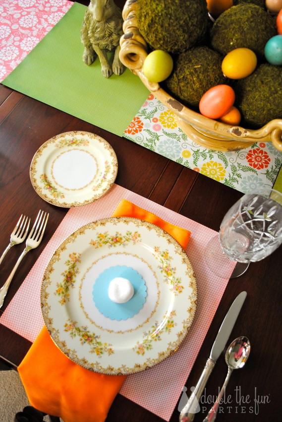 Easter Table in 15 minutes for $1.59 0232