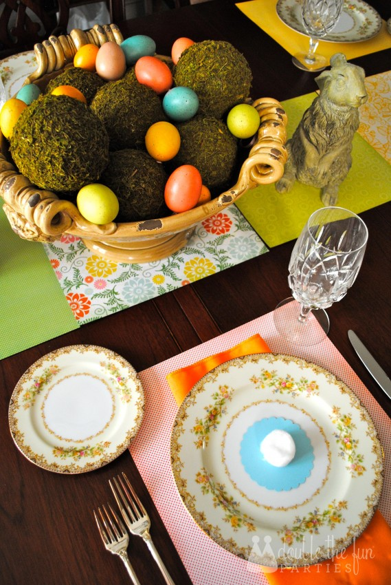 Easter Table in 15 minutes for $1.59 0252