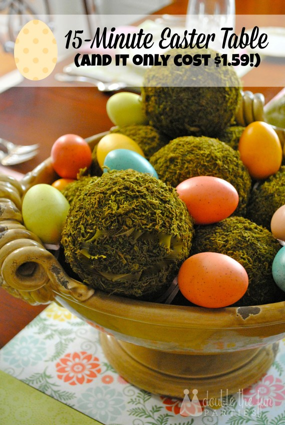 Easter Table in 15 minutes for $1.59