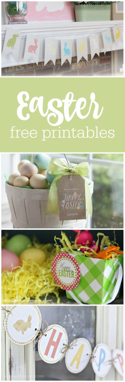 Easter free printables curated by The Party Teacher