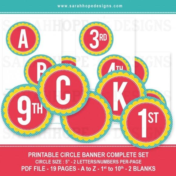 FF Sarah Hope Designs Alphabet Numbers Banner