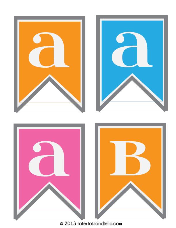 FF Tatertots & Jello Alphabet Banner