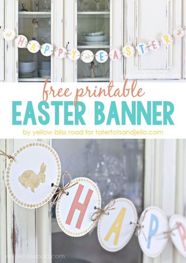 FF Yellow Bliss Road Easter free printables