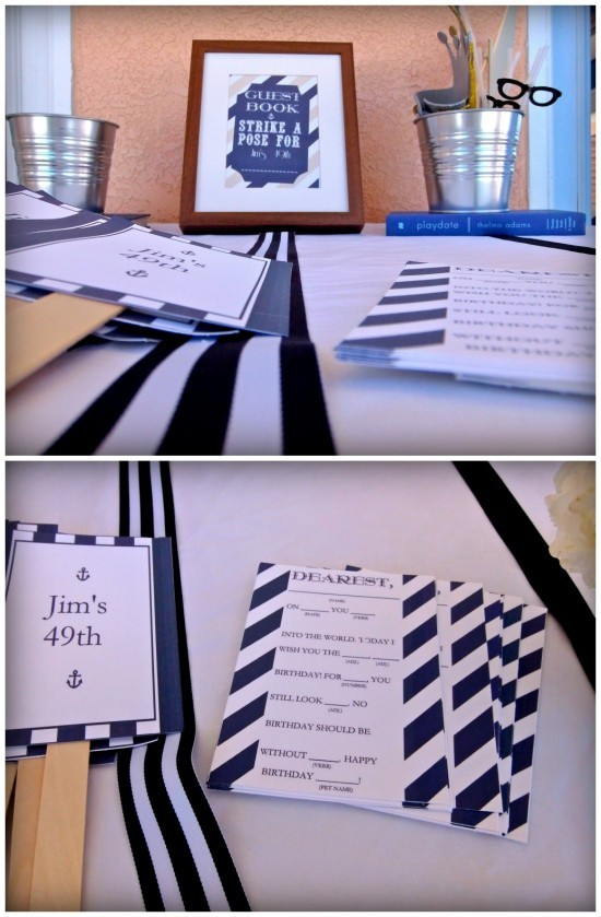 Nautical Party Guest Book