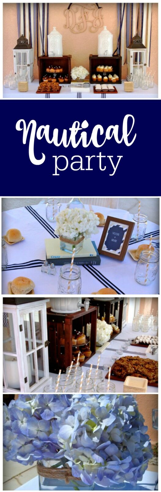 Nautical birthday party by A Stylish Affair by Jessie featured on The Party Teacher
