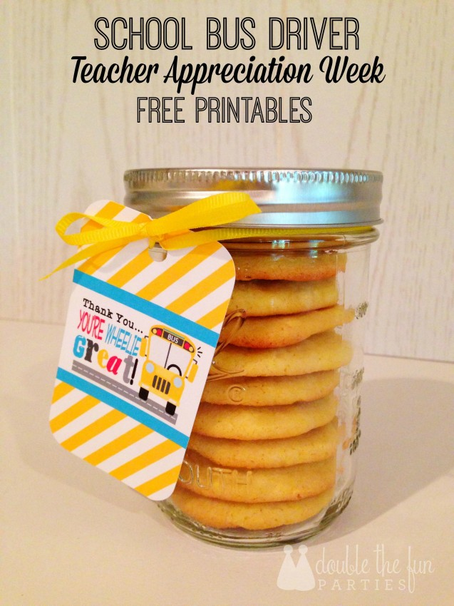 School Bus Driver Appreciation Free Printables
