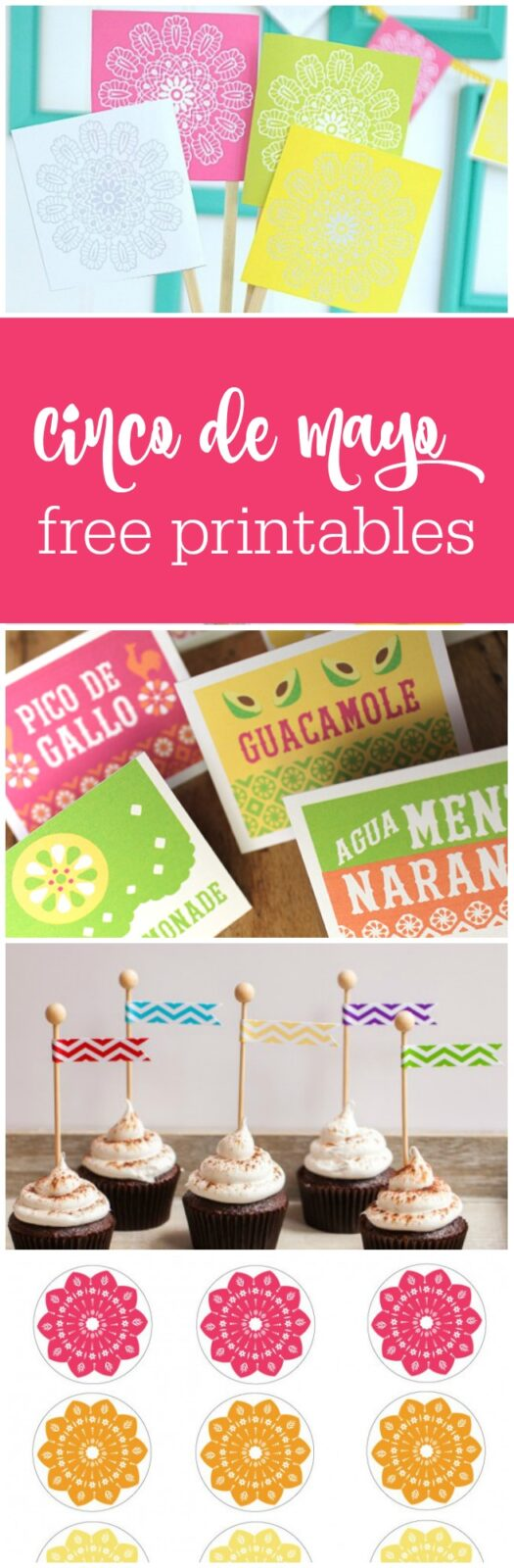 13 free Cinco de Mayo printables curated by The Party Teacher