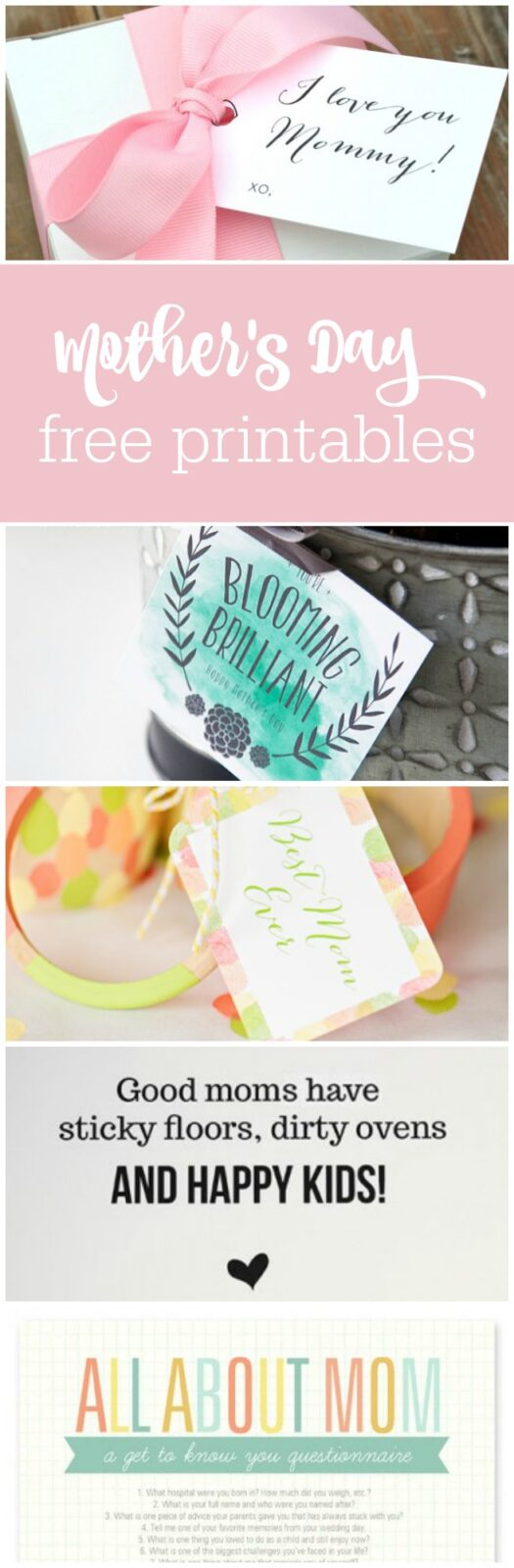20 free mother's day free printables curated by The Party Teacher