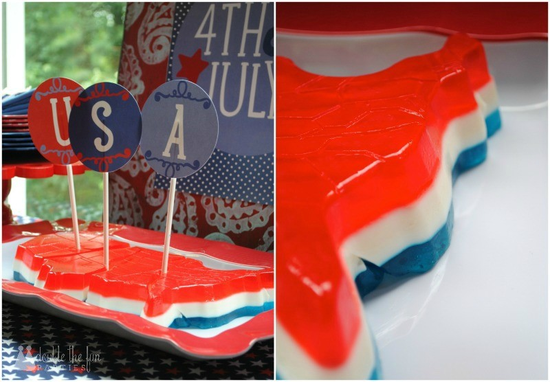 4th of July Party Jell-O mold USA by Double the Fun Parties-WM