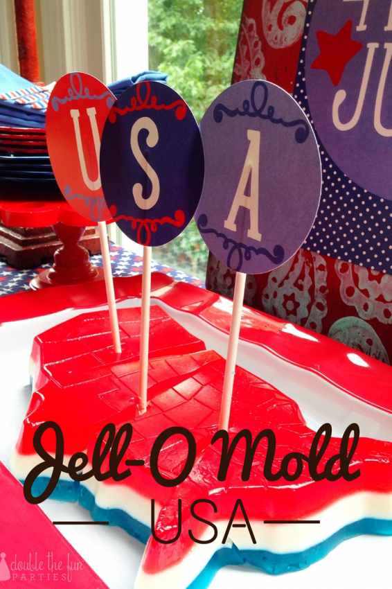 4th of July Party USA Jell-O Mold by Double the Fun Parties
