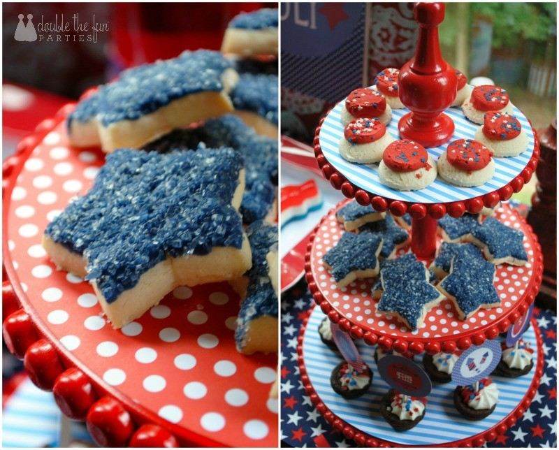 4th of July Party cookies by Double the Fun Parties-WM