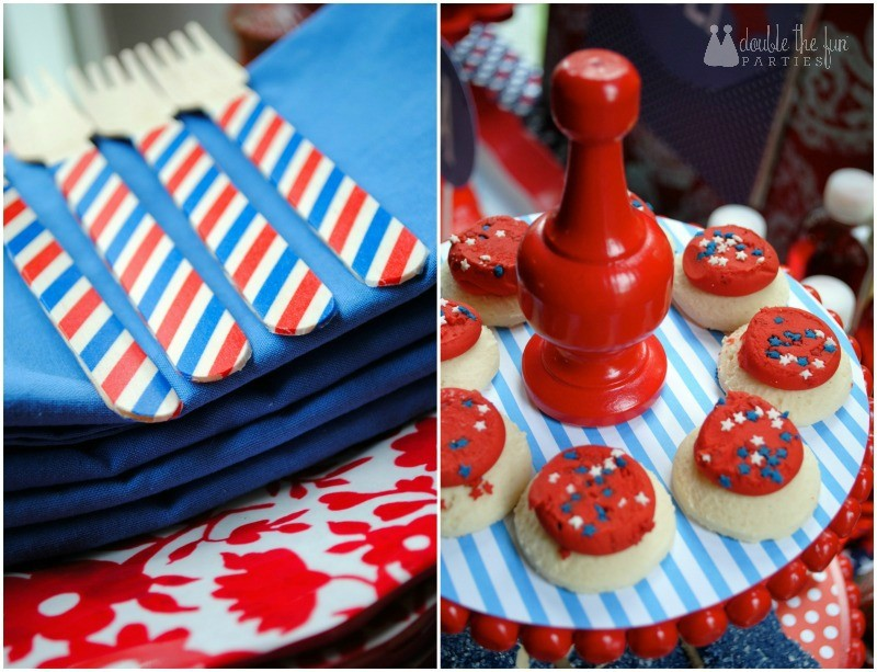 4th of July Party washi tape forks-2 by Double the Fun Parties WM