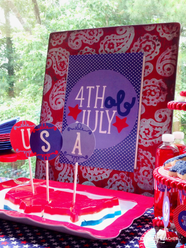Home of the Brave 4th of July Party by The Party Teacher - Jell-O mold USA