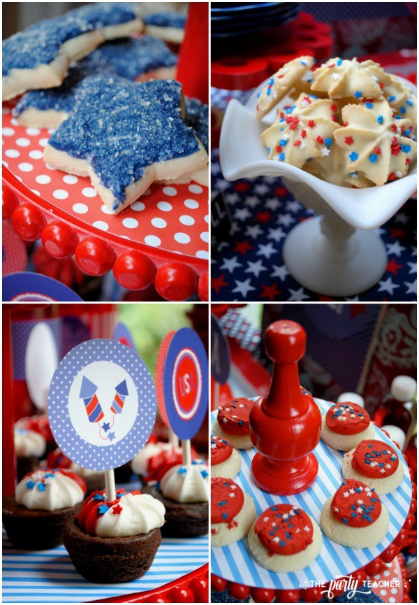 Home of the Brave 4th of July Party by The Party Teacher - one-bite desserts