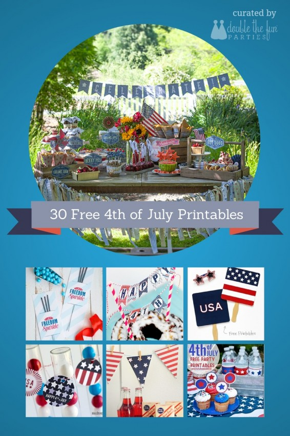 30 free 4th of July party printables