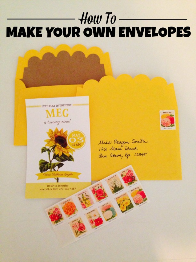 How to make your own envelopes by Double the Fun Parties