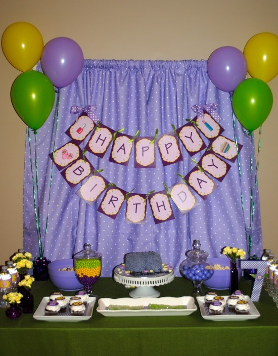 Pipe and drape system - purple curtain