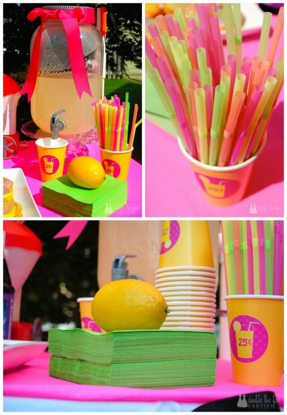 Snow cone stand homemade lemonade by Double the Fun Parties