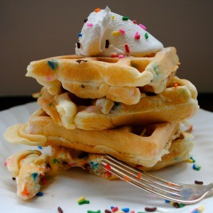 Back to School Sprinkles Waffles