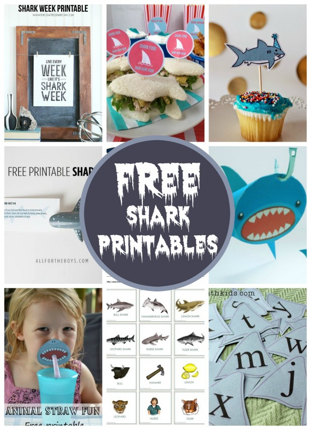 Freebie Friday Free Shark Printables - Free shark birthday invitation template