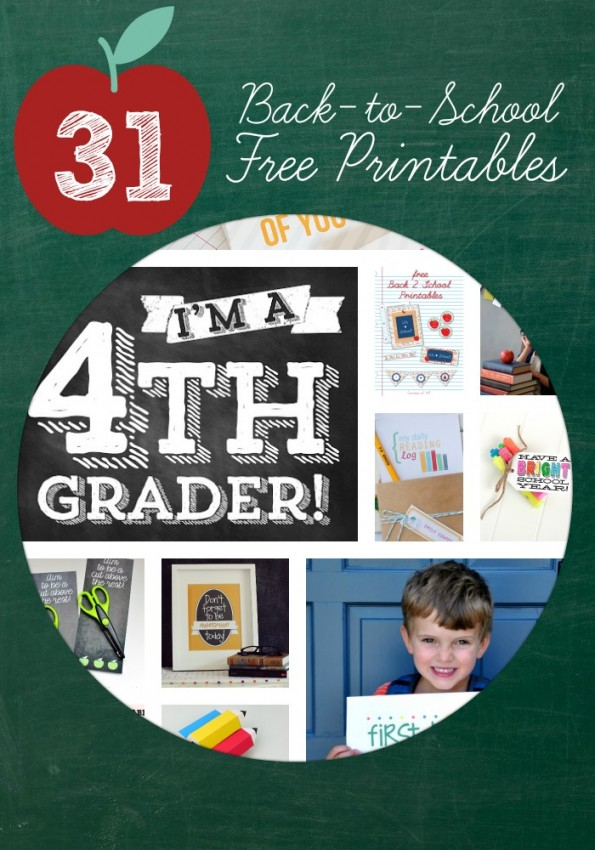 31 Back to School Free Printables from Double the Fun Parties