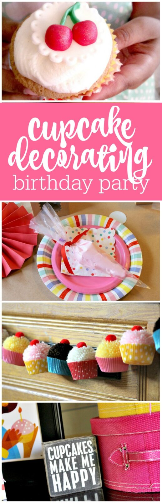 Cupcake decorating birthday party by Cupcake Wishes & Birthday Dreams featured on The Party Teacher