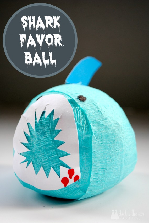 Easy party favor - Shark Favor Ball by Double the Fun Parties