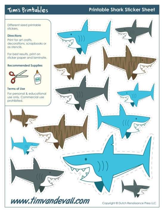 Free-printable-Shark-Stickers-by-Tims-Printables